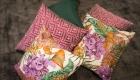 Kissen floral und pink